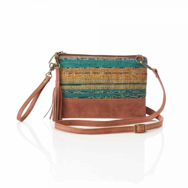 Sari Sunset Crossbody Wristlet