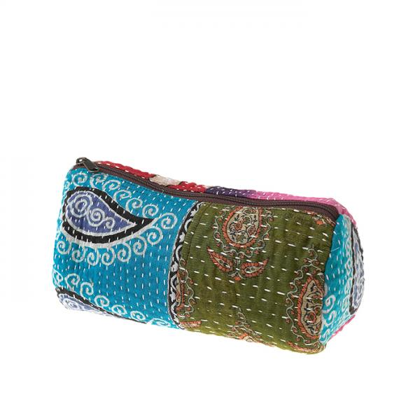 Small Kantha Cosmetic Bag