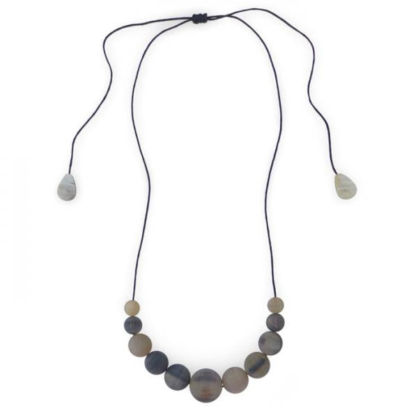 Marble Horn Necklace