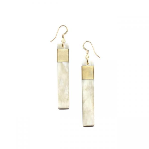 Hanoi Light Horn & Brass Earrings