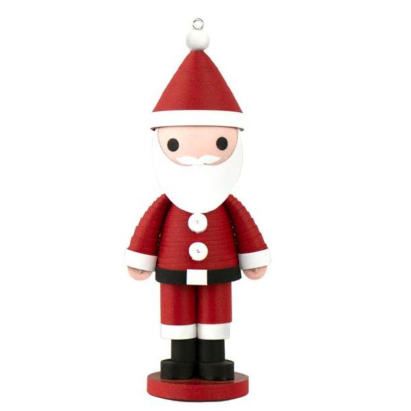 Quilled Paper Santa Ornament with Stand
