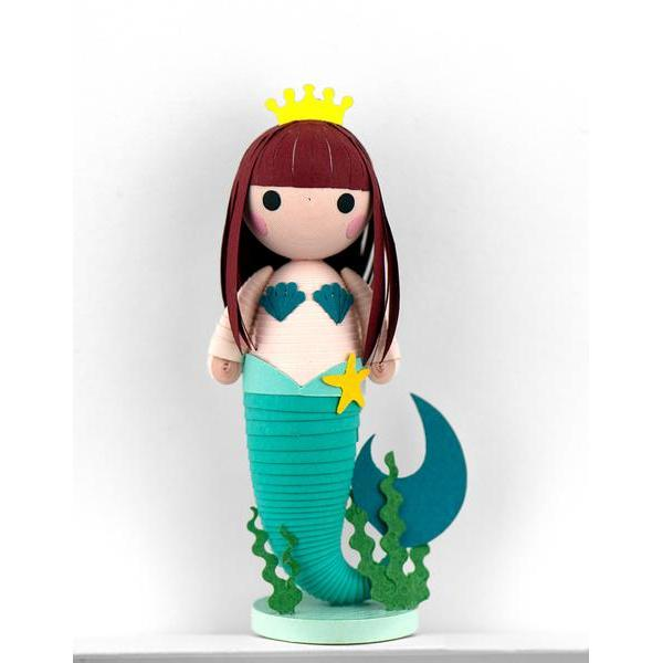Quilled Paper Mermaid Ornament with Stand