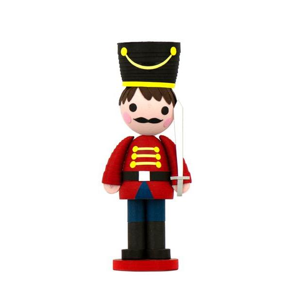 Quilled Paper Nutcracker Ornament with Stand