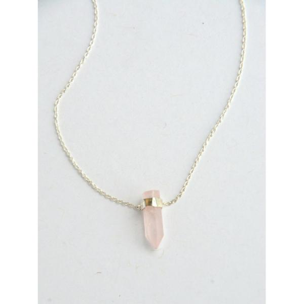 Natural Beauty Rose Quartz Sterling Silver Necklace