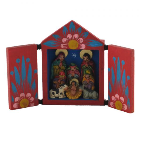 Traditional Retablo Nativity Medium