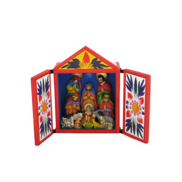 Traditional Retablo Nativity Large