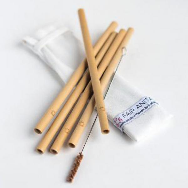 Sustainable Bamboo Reusable Straw Set