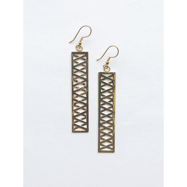 Trellis Brass Earrings