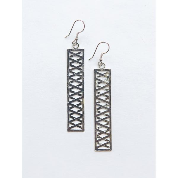 Trellis Silver-Plated Earrings