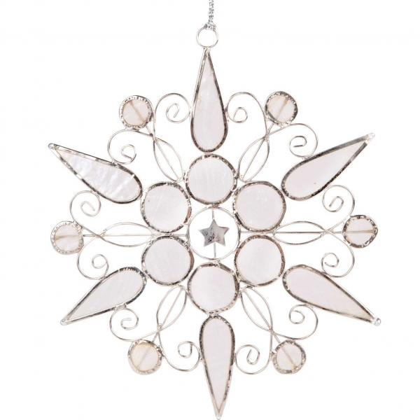 White Capiz Snowflake Ornament