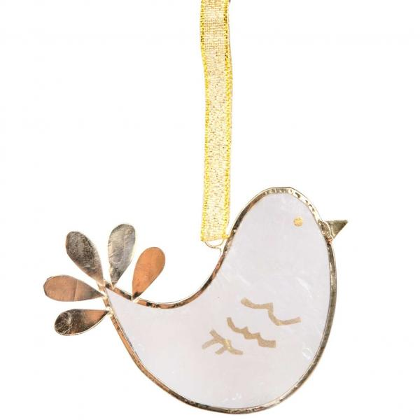 Share Peace Capiz Dove Ornament