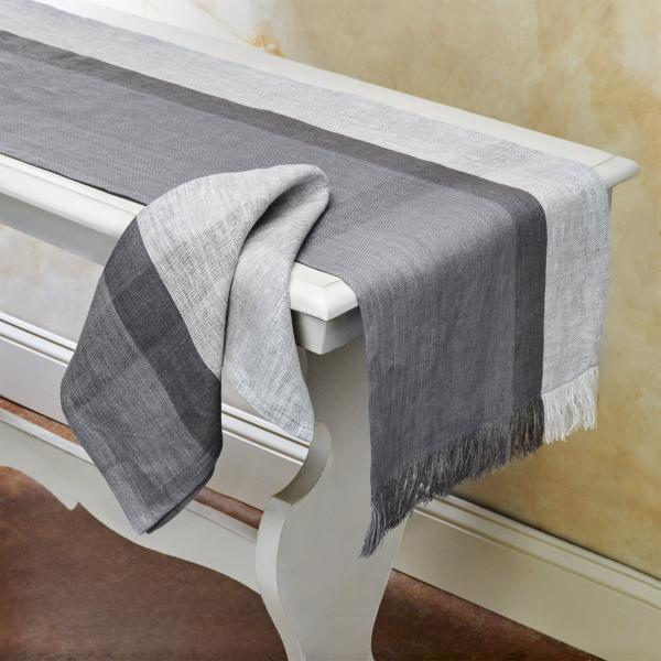 High Tea Handwoven Linen Scarf/Runner