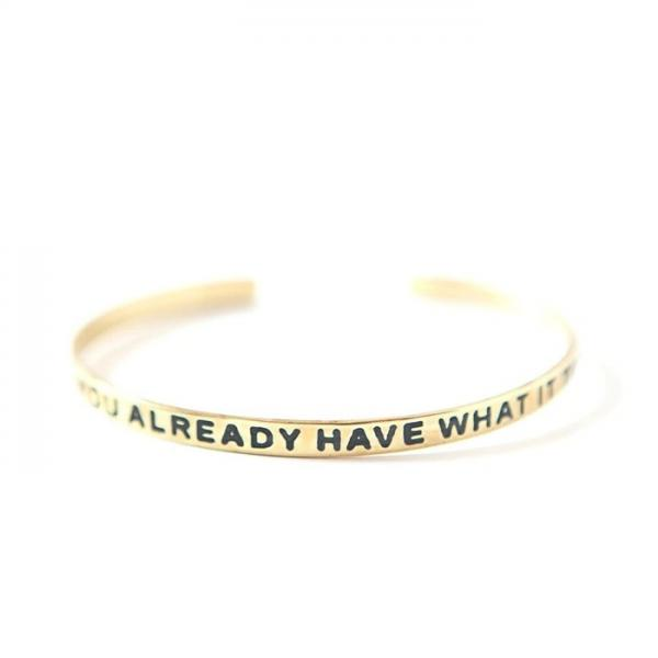 Have What It Takes Brass-plated Cuff