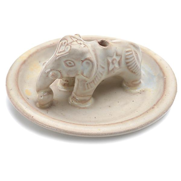 Ceramic Elephant Incense Burner