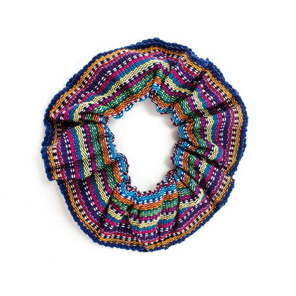 Colorful Ikat Fabric Scrunchie for Hair