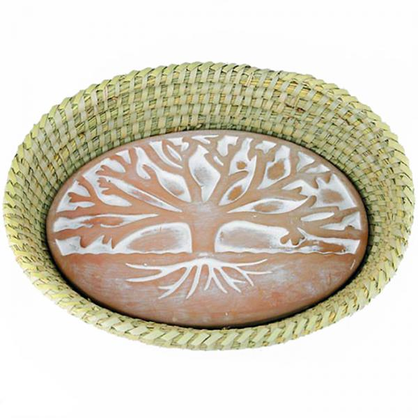Tree of Life Terra Cotta Bread Warmer