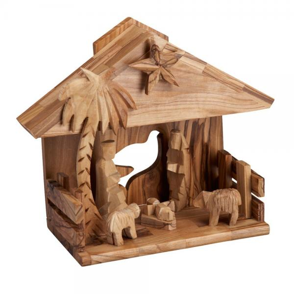 Music Box Olive Wood Nativity