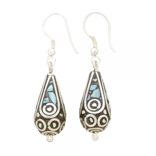 Mosaic Teardrop Earrings