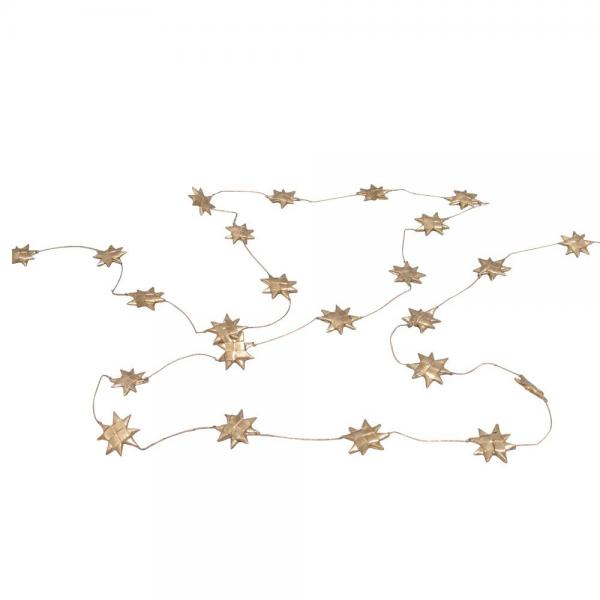 Gold Star Palm Leaf Holiday Garland