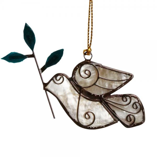 Dove with Olive Branch Ornament