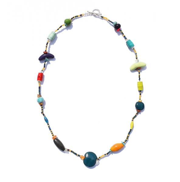 Mixed Bead 1-Strand Necklace