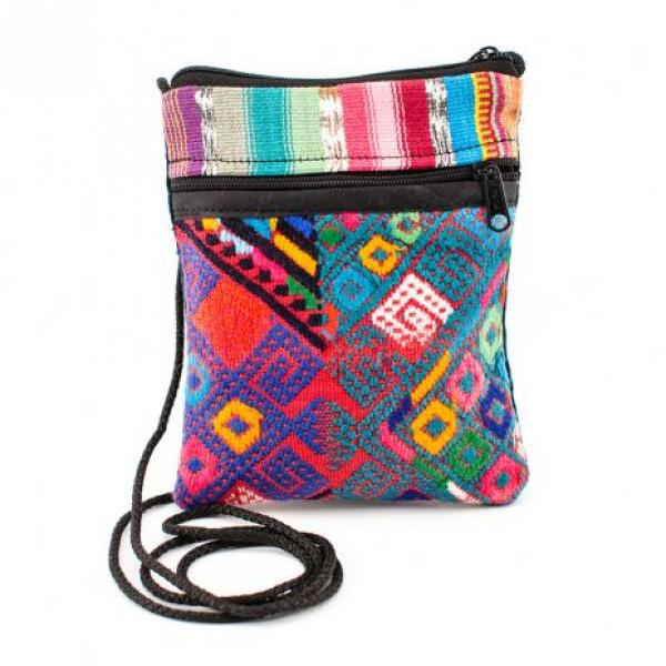 Recycled Textile Mini-Passport Bag