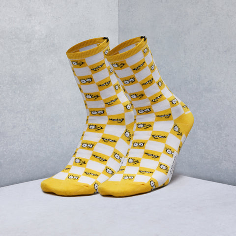 The Simpsons Check Eyes Socks