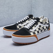 Checkerboard Old Skool Stacked Shoe