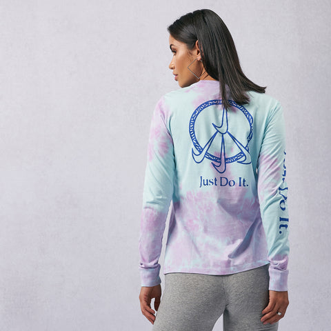 Sportswear Tie-Dye Wash Long Sleeves Tee