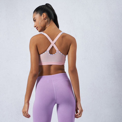 Indy Shimmer Stripe Sports Bra