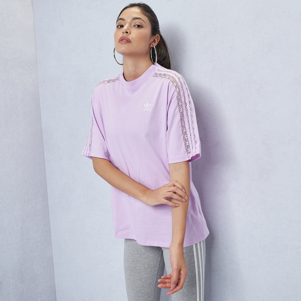 3-Stripes Lace Tee
