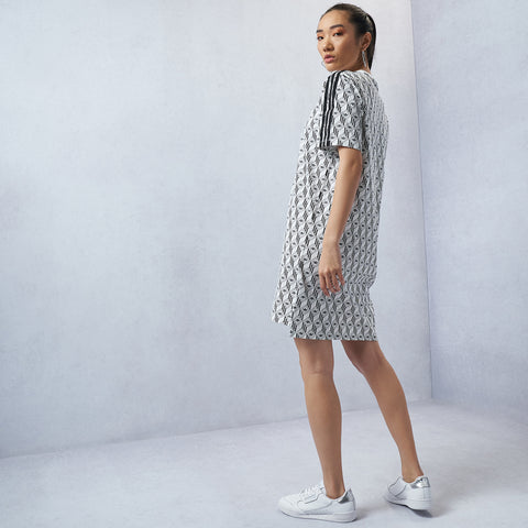 Monogram Allover Print Tee Dress