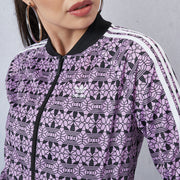 Allover Print Trefoil Track Jacket