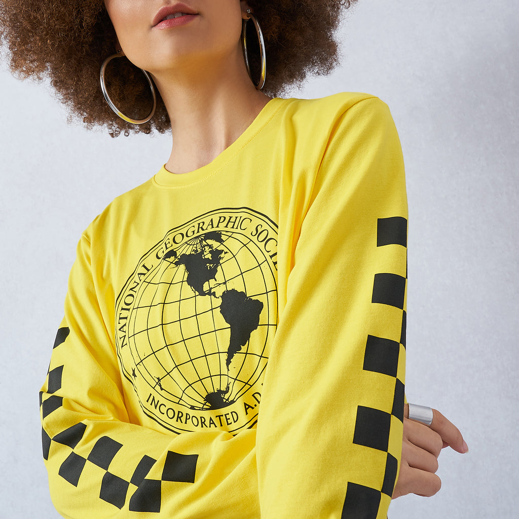 National Geographic Cropped Tee