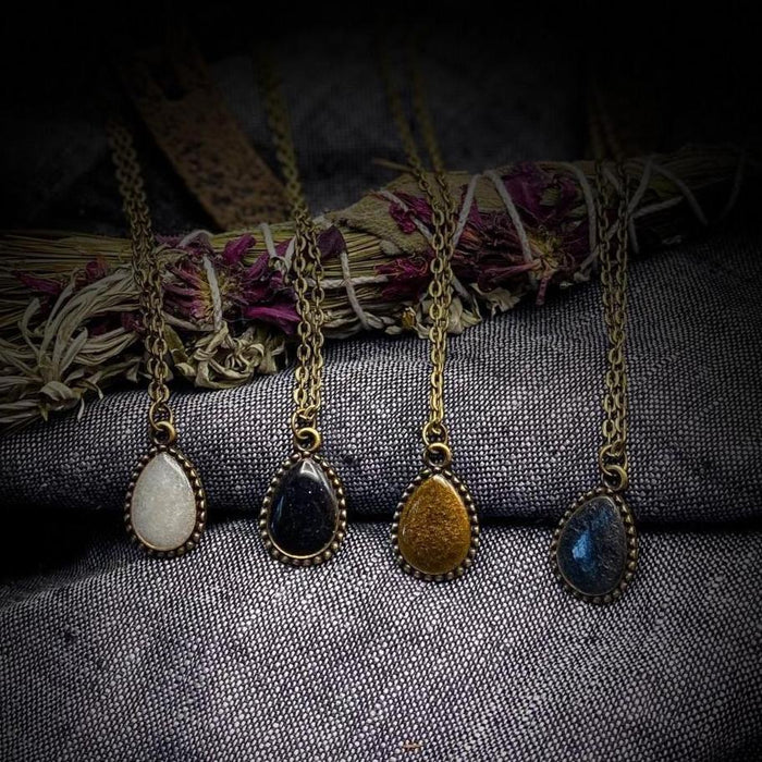 Tear Drop Necklace (Multiple colors to choose from)