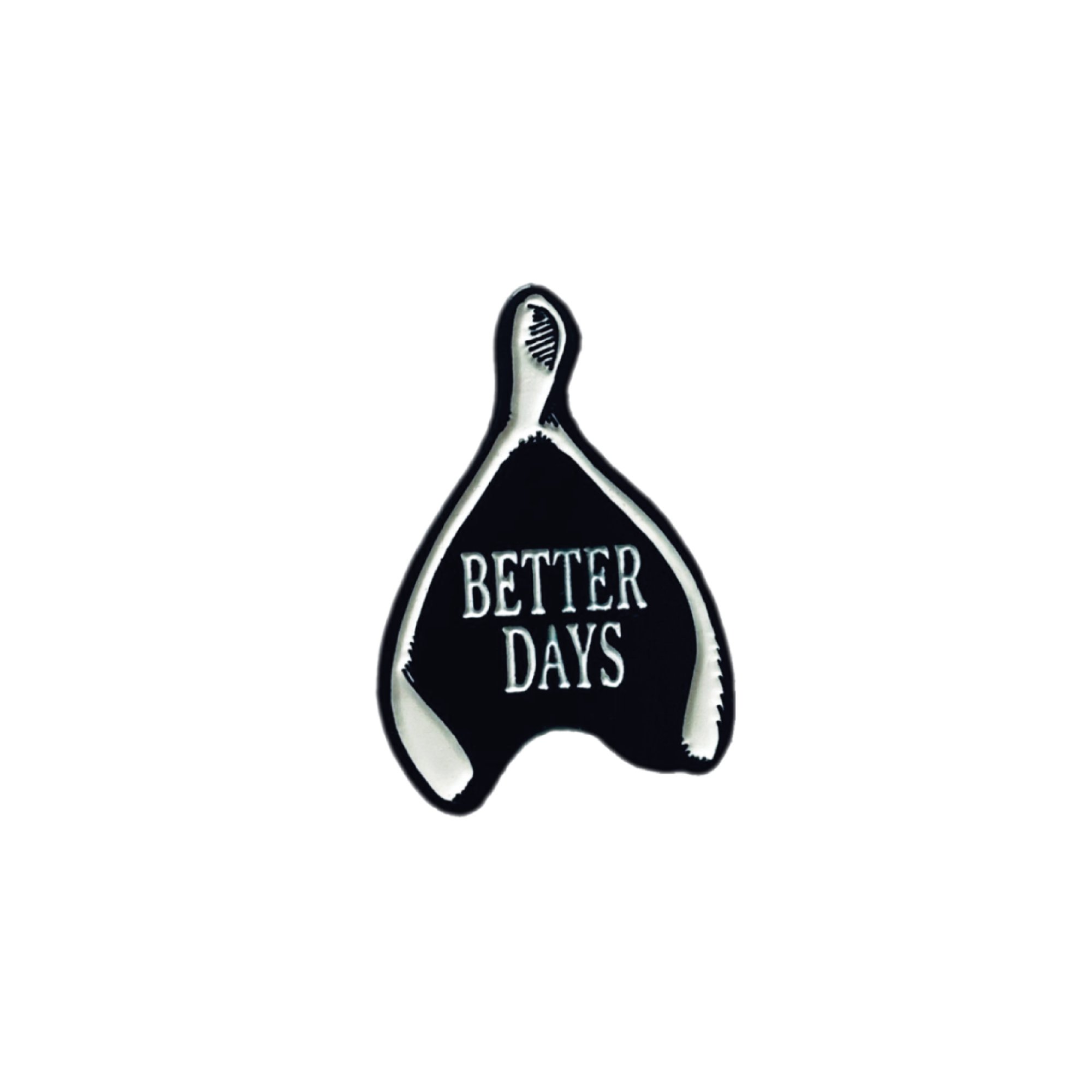 Wishing for better days wishbone pin
