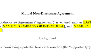 Mutual Non-Disclosure Agreement (Basic)