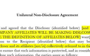 Unilateral Non-Disclosure Agreement (Basic)