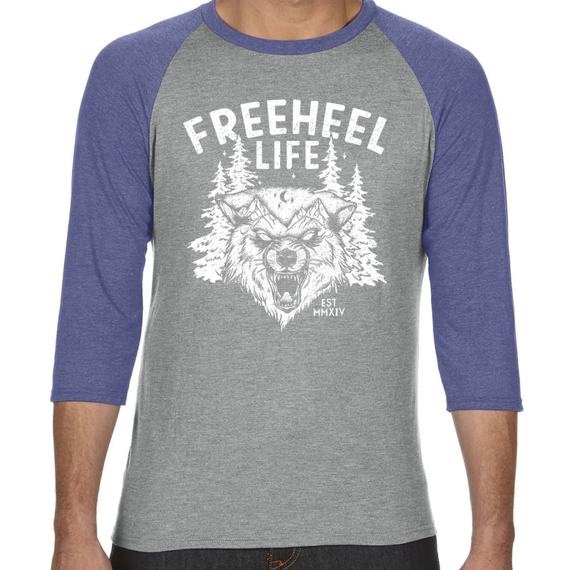 Freeheel Life Erik Nordin Signature Line Raglan T-Shirt - Heather Grey/Blue