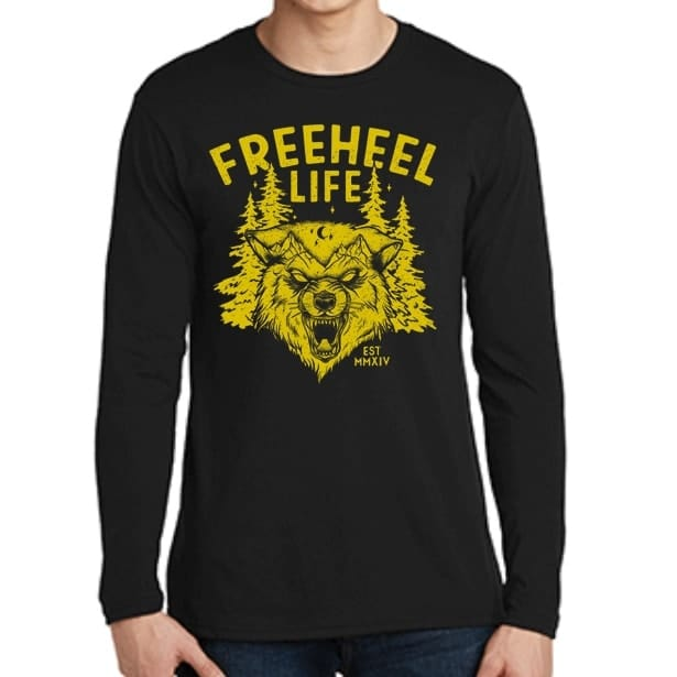 Freeheel Life Erik Nordin Signature Line Long Sleeve T-Shirt - Black
