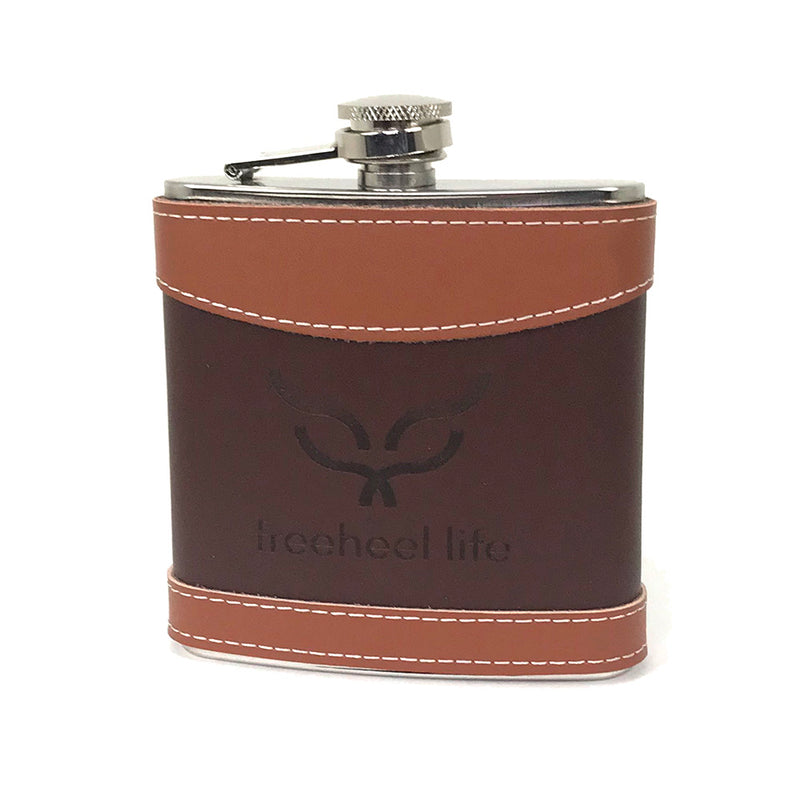 Freeheel Life Leather Wrapped Flask
