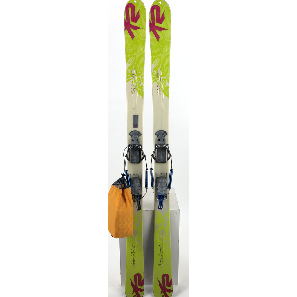 167cm K2 Dawn Patrol w/ Voile Switchback short w/ skins (USED)