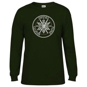 Hippies Punx & Misfits Long Sleeve - Forest Green