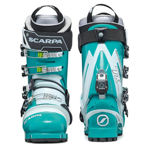 Scarpa Women's TX Pro NTN Telemark Boot double boot front and back