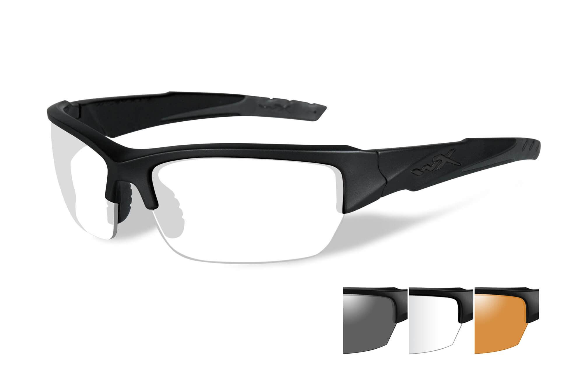 Wiley X Valor Smoke Grey/Clear/Light Rust Black Frame