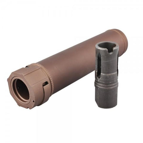 BIG DRAGON SILENCER WITH FLASH HIDER DARK EARTH (BD-0491A)