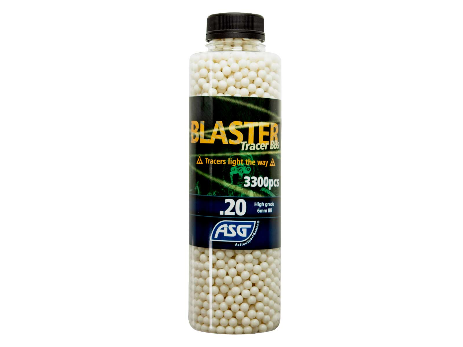 Blaster Tracer 0.20g Airsoft BB in green color -3300 pcs