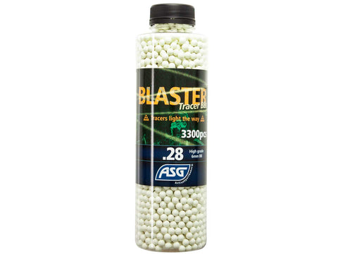 Blaster Tracer 0.28g Airsoft BB in green color -3300 pcs