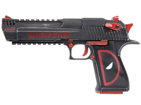 Deadpool Desert Eagle 50AE (Magnum Research Inc. - Licensed by Cybergun - Made by WE - Black/Red)