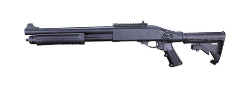 Golden Eagle M870 Gas Powered 3/6 Shot Pump Action Full Metal Airsoft Shotgun (Black)